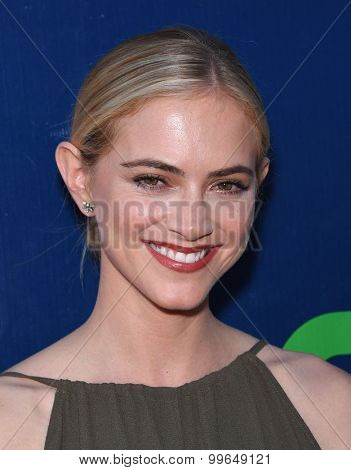 LOS ANGELES - AUG 10:  Emily Wickersham arrives to the Summer 2015 TCA's - CBS, The CW & Showtime  on August 10, 2015 in West Hollywood, CA