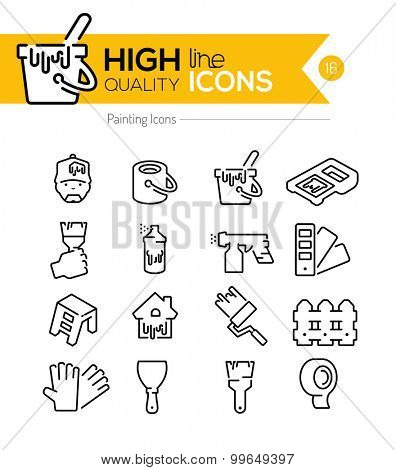Painting Line Icons