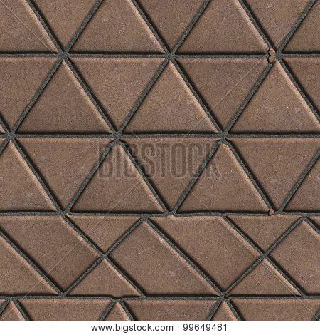 Brown Pave Slabs in the Form of Triangles and Other Geometric Shapes.