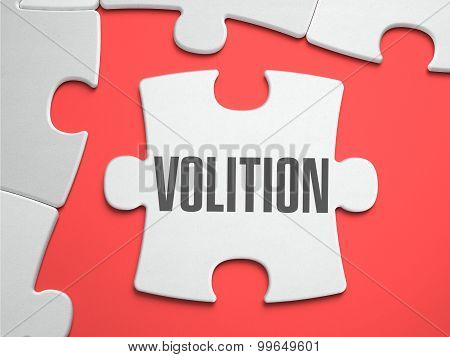 Volition - Puzzle on the Place of Missing Pieces.