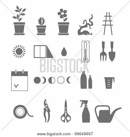Houseplants Icons.
