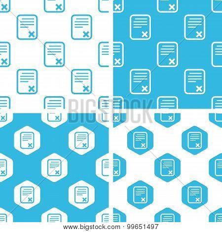 Declined document patterns set