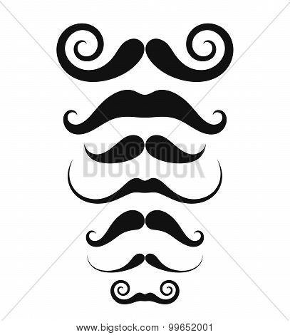 Mustache. Icon set