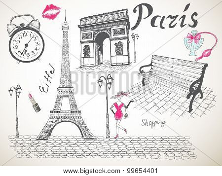 Retro poster of Paris