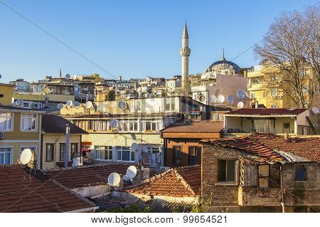 background roof in the old town in the center of Istanbul