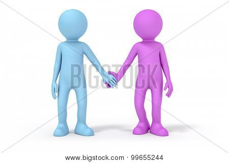 An image of a man and a woman hand in hand