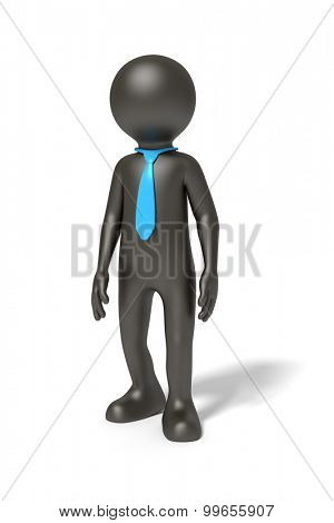 An image of a simple standing black man