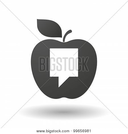 Apple Icon With A Tooltip