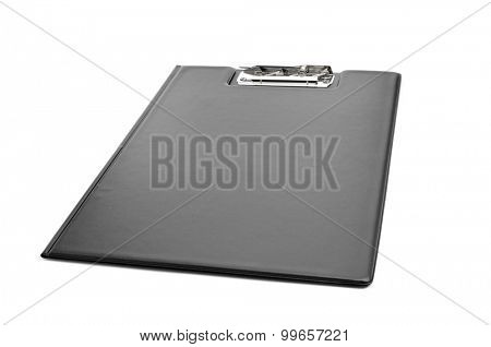 a new black folding clipboard on a white background