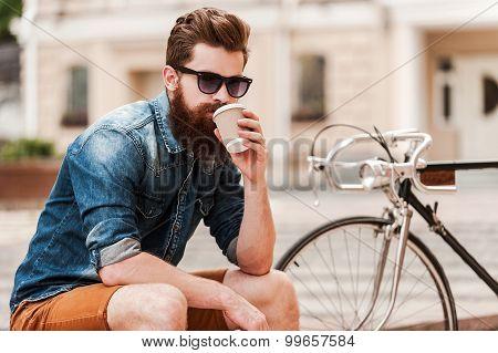 Enjoying Fresh Coffee.