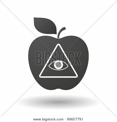 Apple Icon With An All Seeing Eye