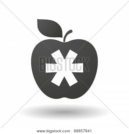 Apple Icon With An Asterisk