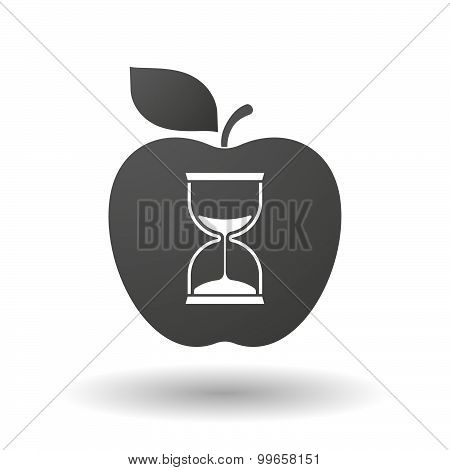 Apple Icon With A Sand Clock
