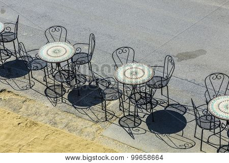 Old Cafe Chairs In Vienna