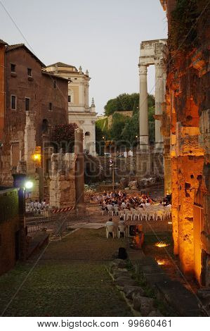 Open-air Theatre Of Marcellus In Rome
