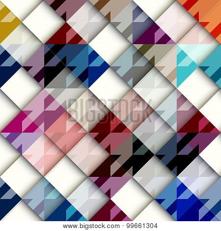 Houndstooth pattern with white geometric squares.