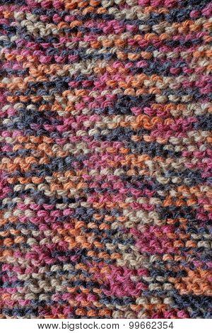 Length Of Knitting In Multi-coloured Yarn