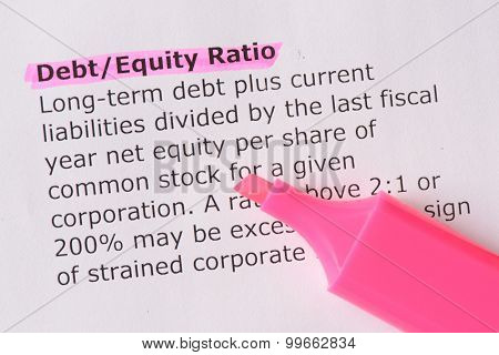 Debt/equity Ratio
