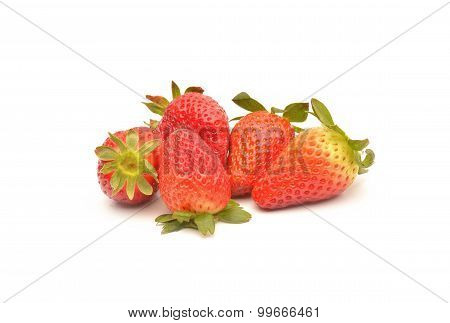 Strawberries Berry On White Background