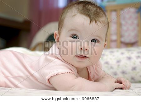 Closeup Portrait Of Adorable Baby Girl