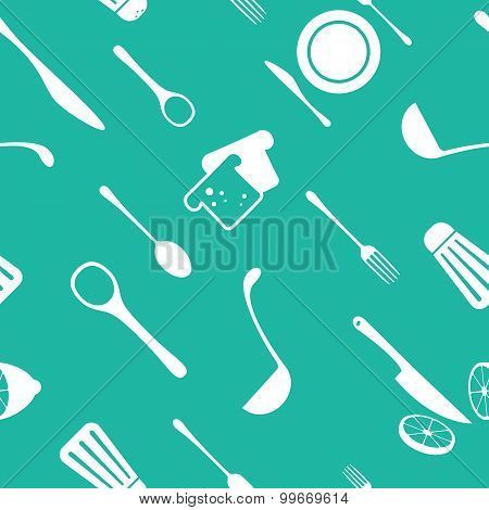 Kitchen seamless vector pattern