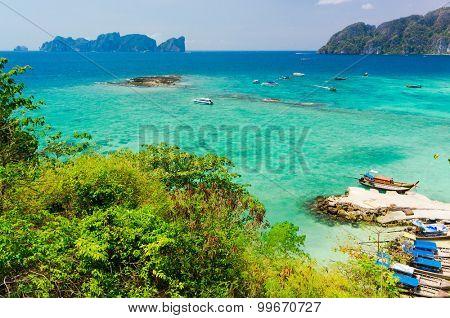 Idyllic Panorama Exotic Backdrop