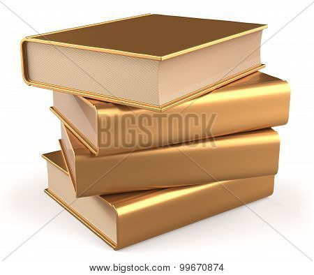 Books Blank Textbook Stack Gold Yellow Golden Manual Faq
