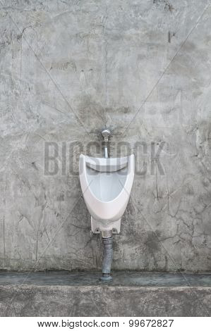 Restroom Interior With Urinal