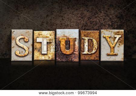 Study Letterpress Concept On Dark Background