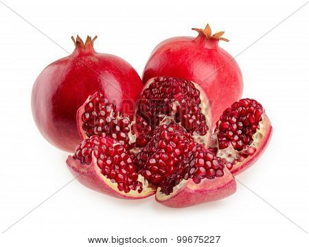 Pomegranate Fruit Isolated