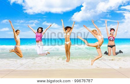 Flying Beauties On a Beach