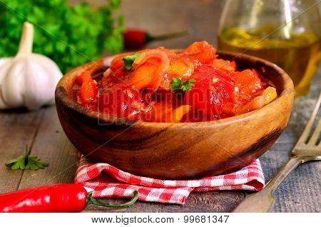 Marinated Lecho,hungarian Cuisine.