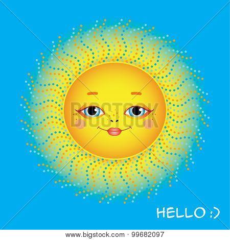 Baby-faced sun