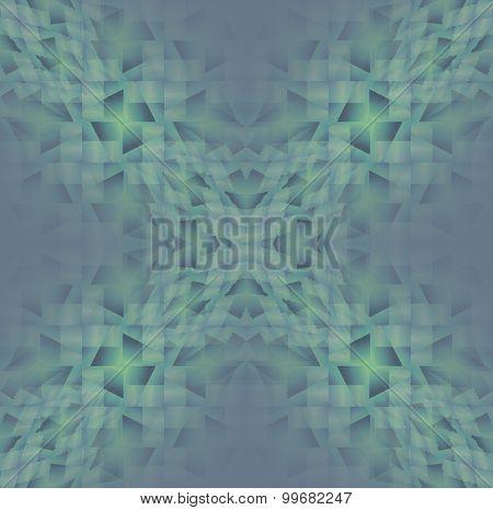 Seamless diamond pattern green gray