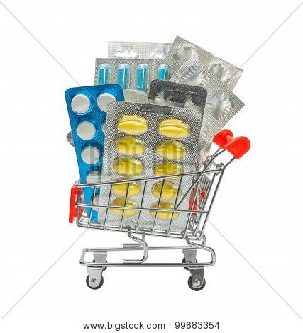 Shopping Trolley With Pills.