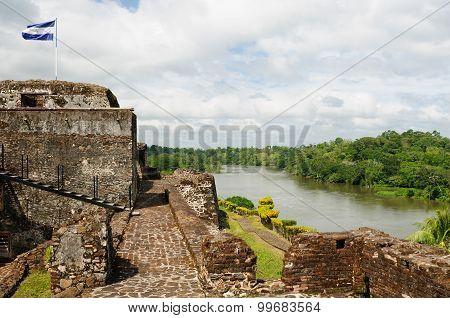 Fortified Castle In El Castillo In Nicaragua