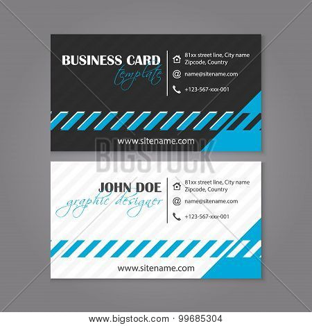 Business card template design for individual or business presentation