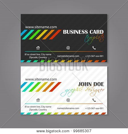 Corporate business card template. The multiple layers are easy to edit to alter text