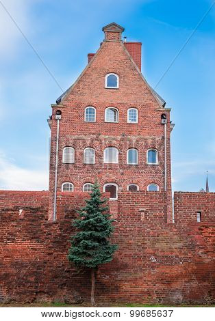 Malbork, Poland-  Augusr 22: a part of teutonic castle in Malbork, Poland.