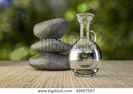 Spa Rocks And Massage Oil
