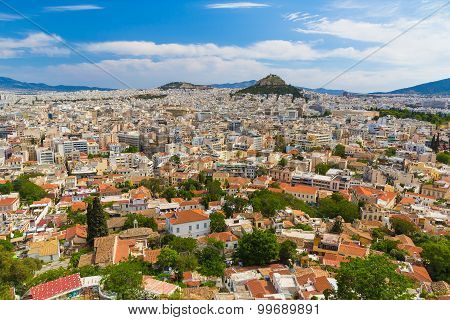 Athens Aerial View From Acropolis, Greece