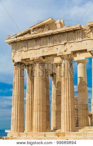 Parthenon Temple In Acropolis, Athens, Greece