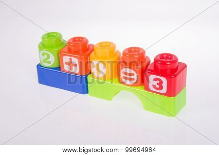 Toy. Plastic Toy Blocks On The Background