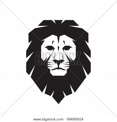 Lion head - vector sign concept illustration. Lion head logo. Wild lion head graphic illustration.