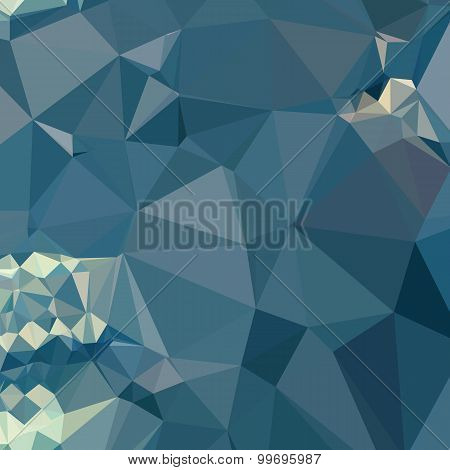 Cadet Blue Abstract Low Polygon Background