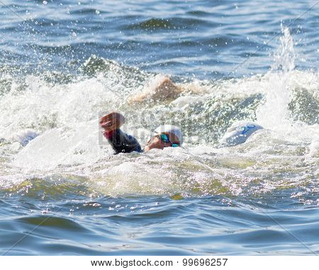 Woman Swimming Arms In The Water