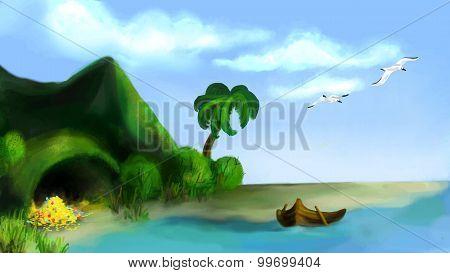 Green Island With Treasure