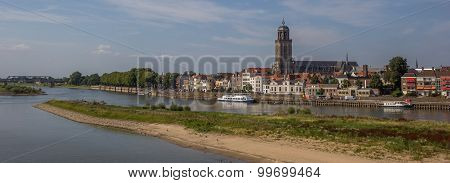 Panorama Of The Historical Center Of Deventer