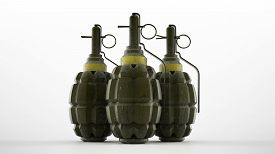 picture of grenades  - Hand grenade in old world war two style pineapple shape - JPG
