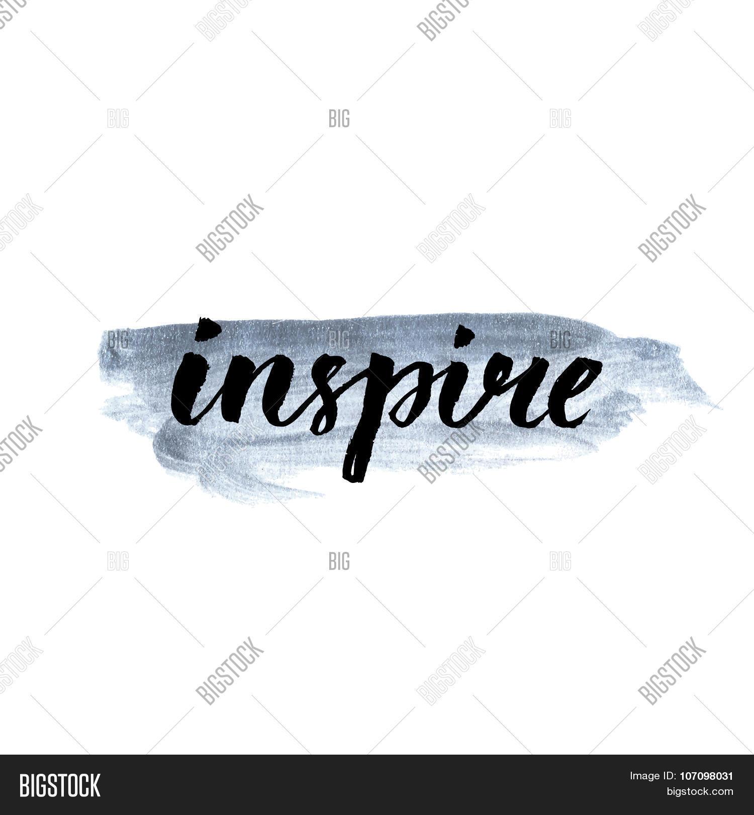 Inspire calligraphy word vector photo bigstock